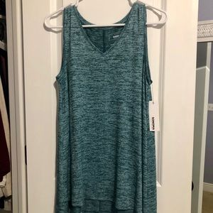 V neck tunic heathered teal color
